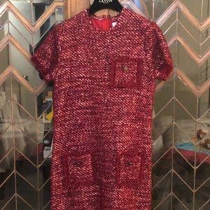 Lanvin Petite Red Tweed Dress size 12